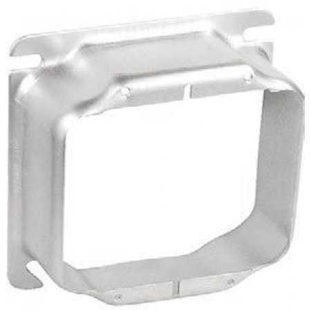 """2 Pcs, Stainless Steel 4"""" Square Two Gang Device Ring, 1/4 In. Raised Used w/4In Square Stainless Steel Boxes to Mount Switches, Receptacles & Devices In Damp, Wet Or Corrosive Environments"""