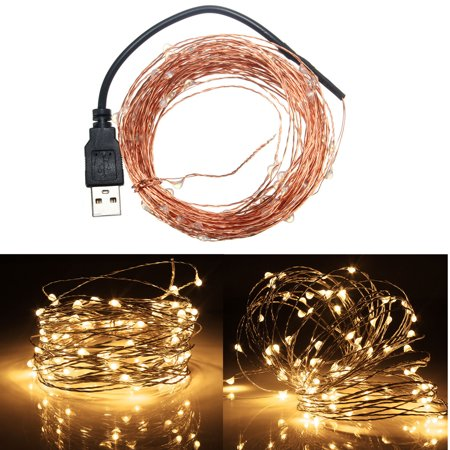 2m 9 Colors Copper Line Light String  20Led USB  Red Yellow Blue Green White Warm White Purple Pink RGB Single (Sparkle Purple Lined Crystal)