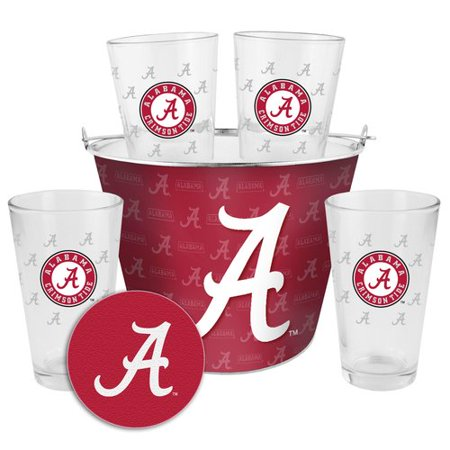 Boelter Brands NCAA Gift Bucket Set, University of Alabama Crimson Tide ()