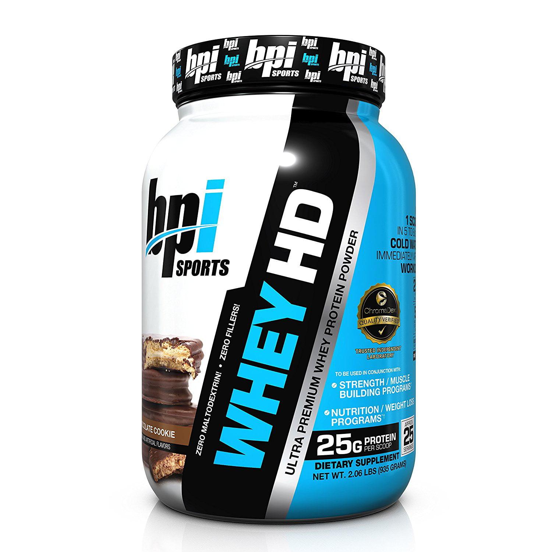 BPI Sports Best Whey Ultra Premium Protein Powder, Chocolate Cookie, 2.04 Lb
