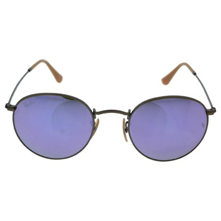 Ray Ban RB 3447 167/4K Round Metal - Bronze Copper/Lilac by Ray Ban for Unisex - 50-21-145 mm Sunglasses