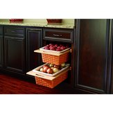 Pull-Out Woven Basket - 4WV18I - Width 381 mm, Depth 21 1/4 in, Height 7 3/8 inFinish Natural