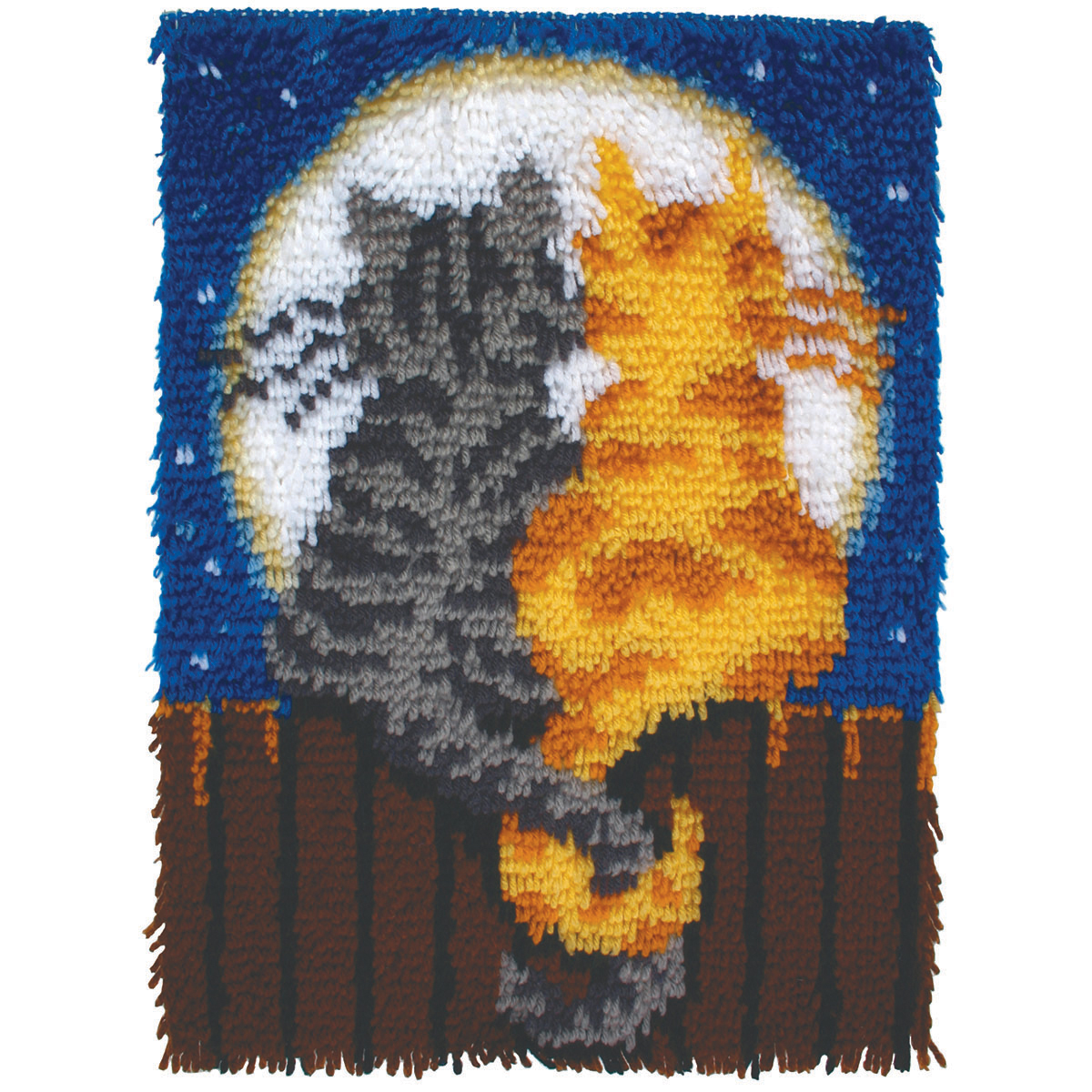 Caron Wonderart Latch Hook Kit 15 X20 Moonlight Meow