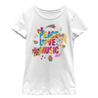 Jojo Siwa Girls' Peace Love Music Rainbow T-Shirt