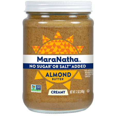 Make Almond Butter - (2 Pack) MaraNatha No Sugar or Salt Added Creamy Almond Butter, 12 oz