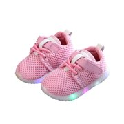wsevypo Toddler Baby Boys Girls Luminous Sneakers Light Up Shoes LED Shoes