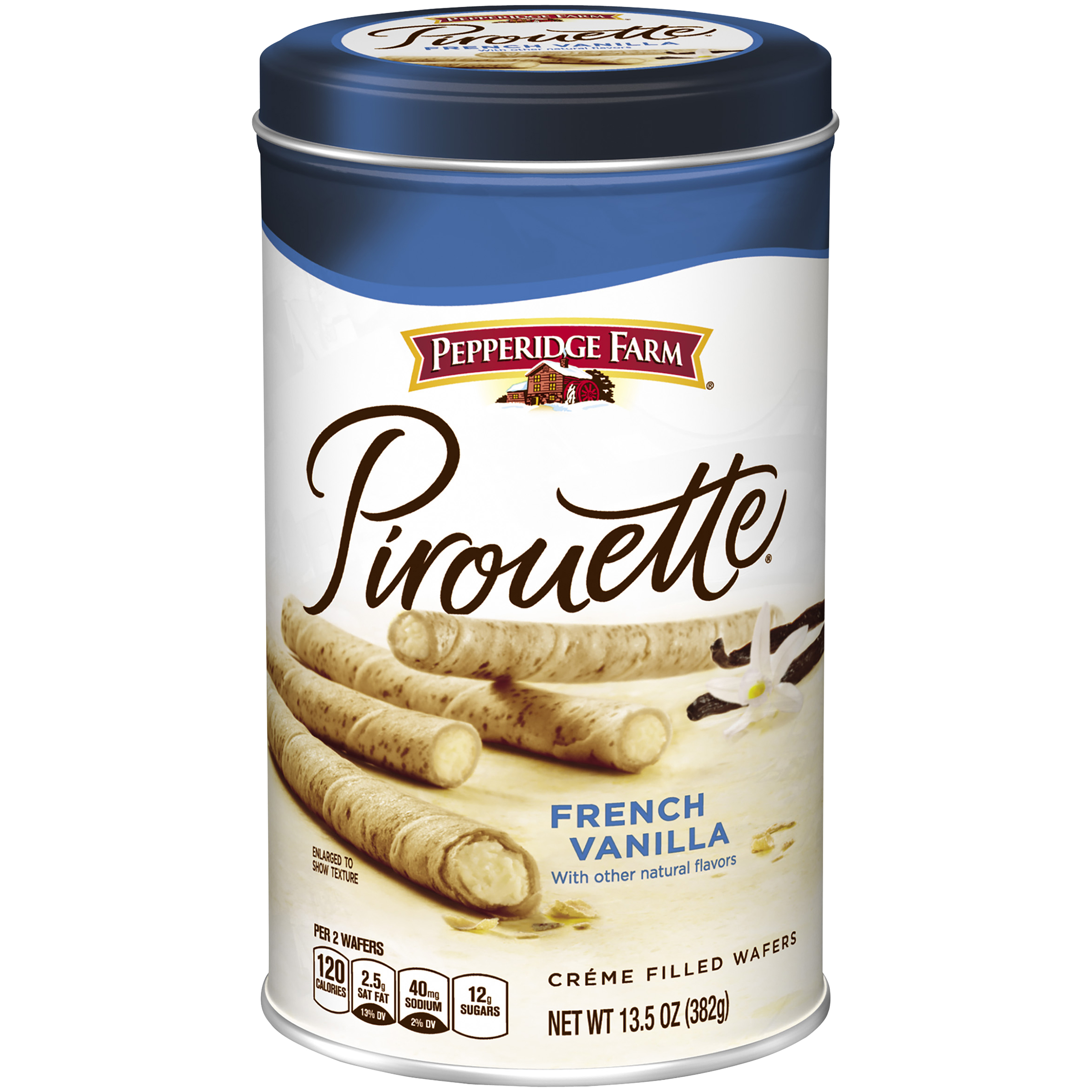 Pepperidge Farm® Pirouette® French Vanilla Créme Filled Wafers 13.5 oz. Canister