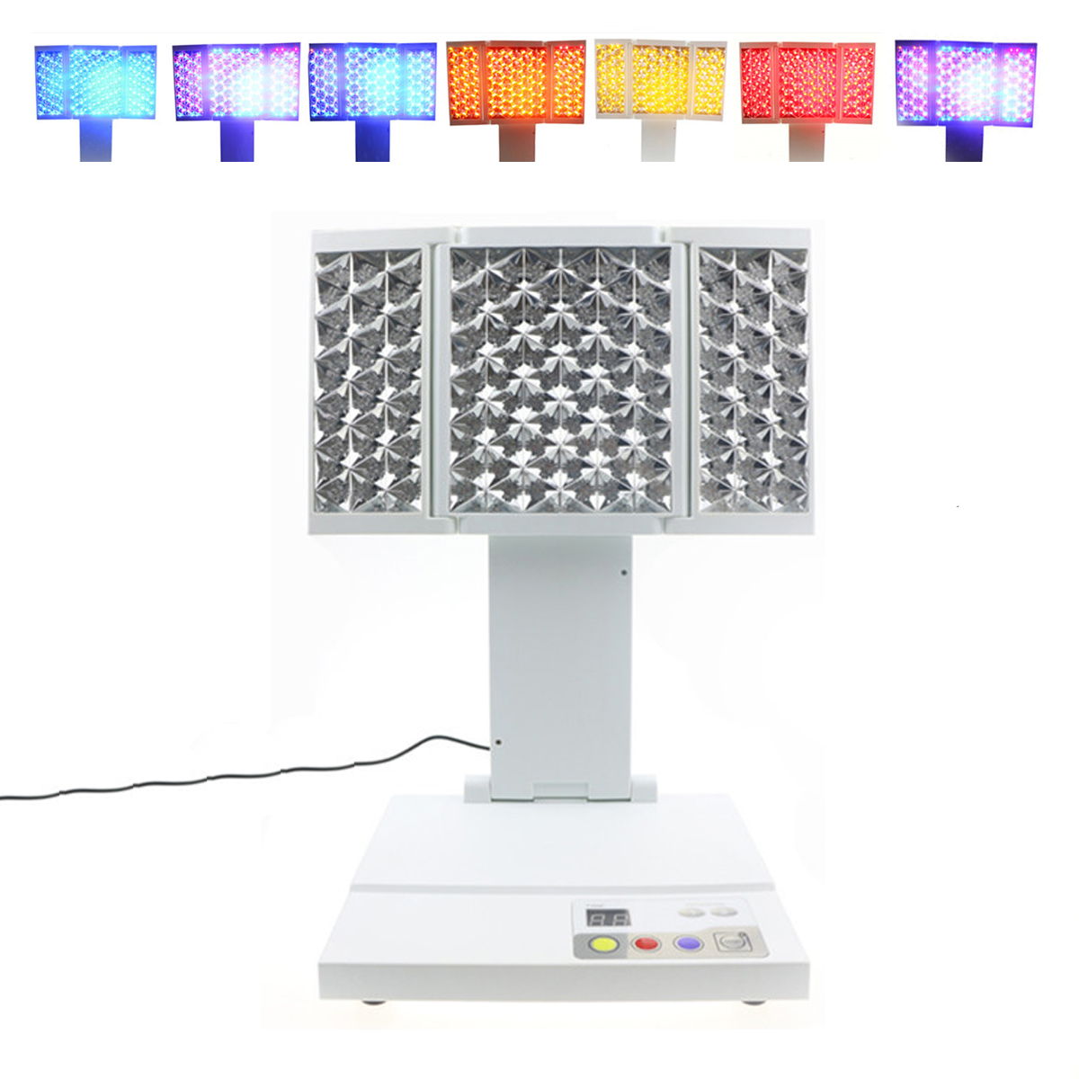 LED 3 Colors PDT LightsTherapy Skin Rejuvenation Acne Wri...