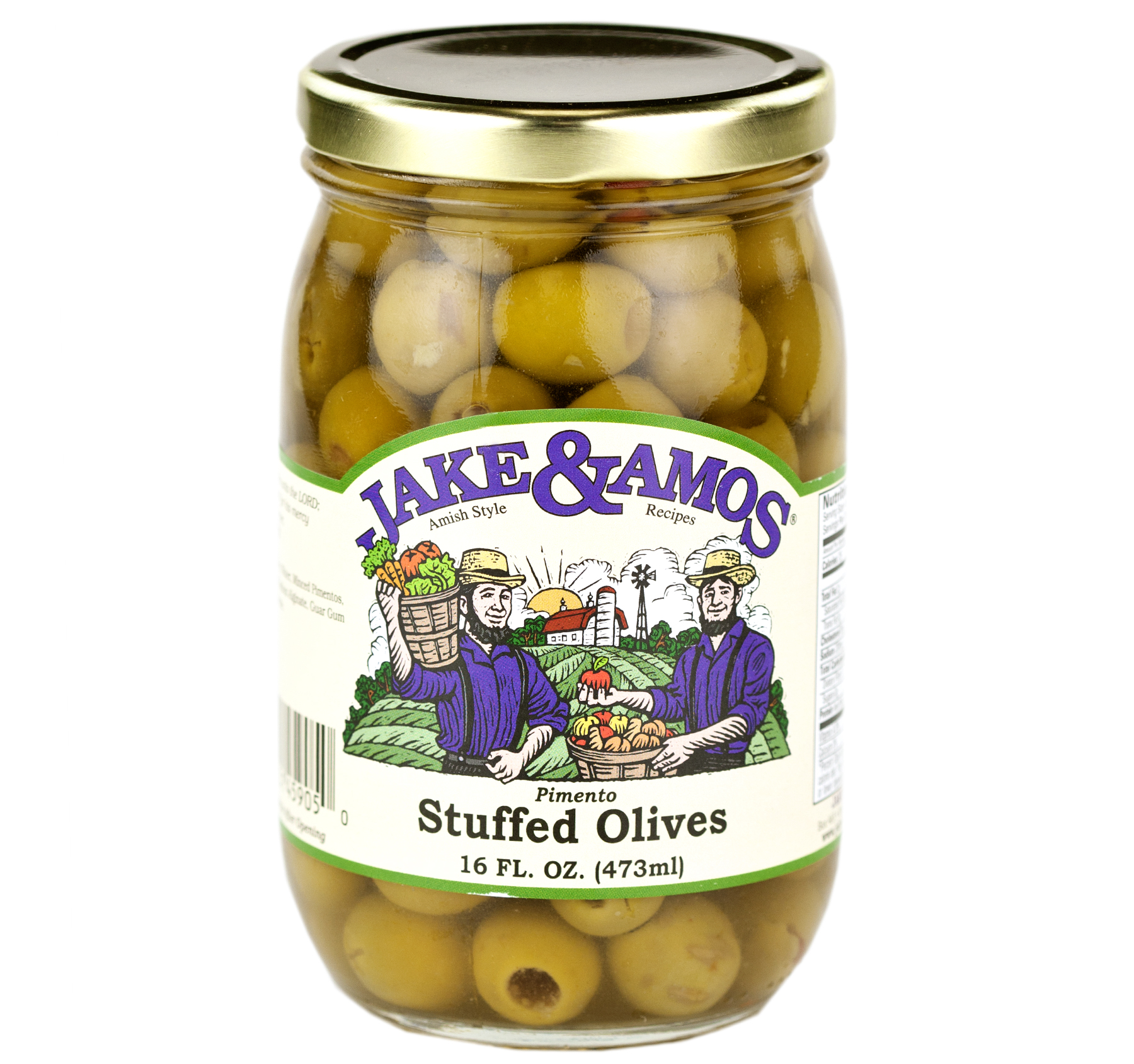 Jake & Amos Pimento Stuffed Olives 16oz (2 Pack)