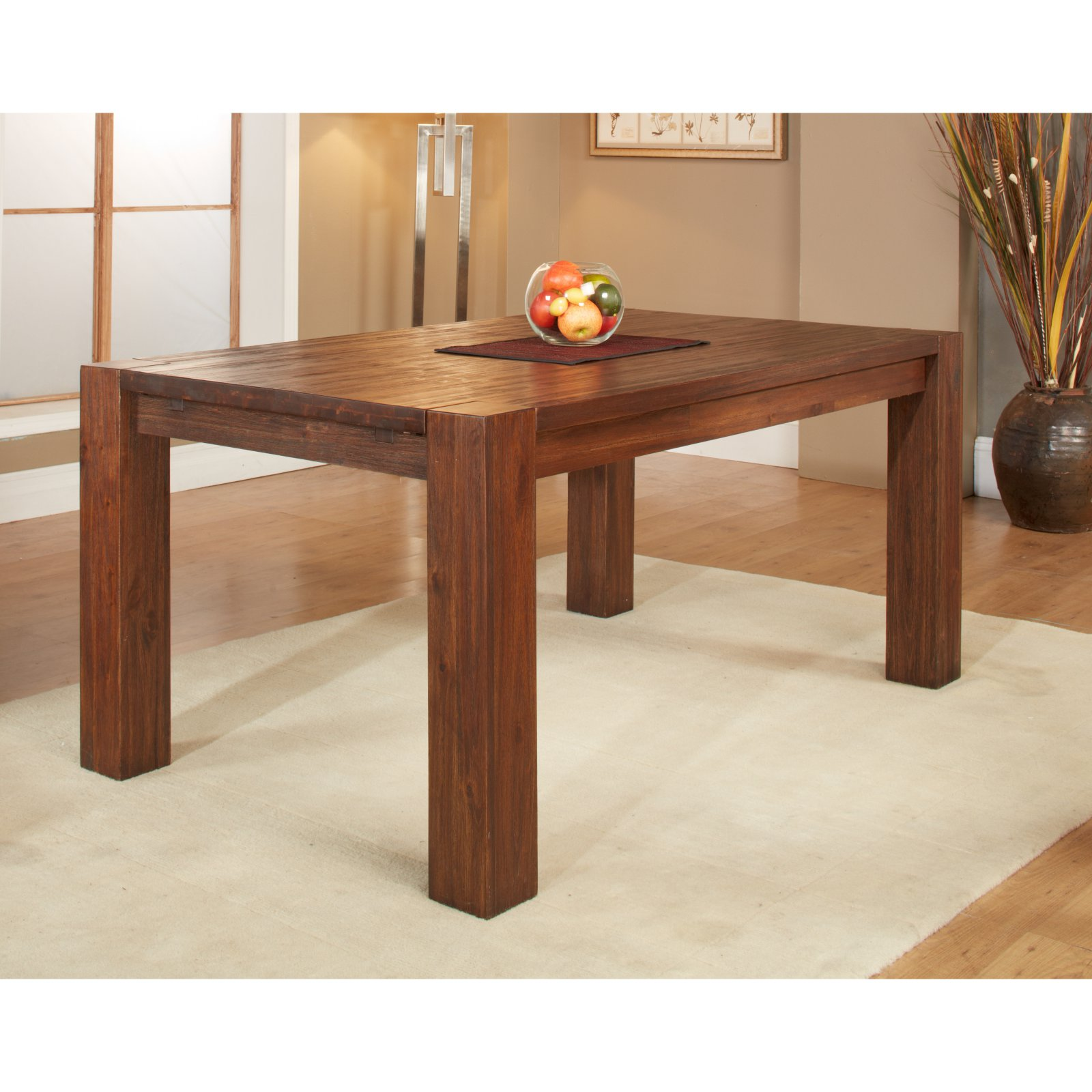 Modus Meadow Solid Wood Extending Dining Table Brick Brown by Modus Furniture