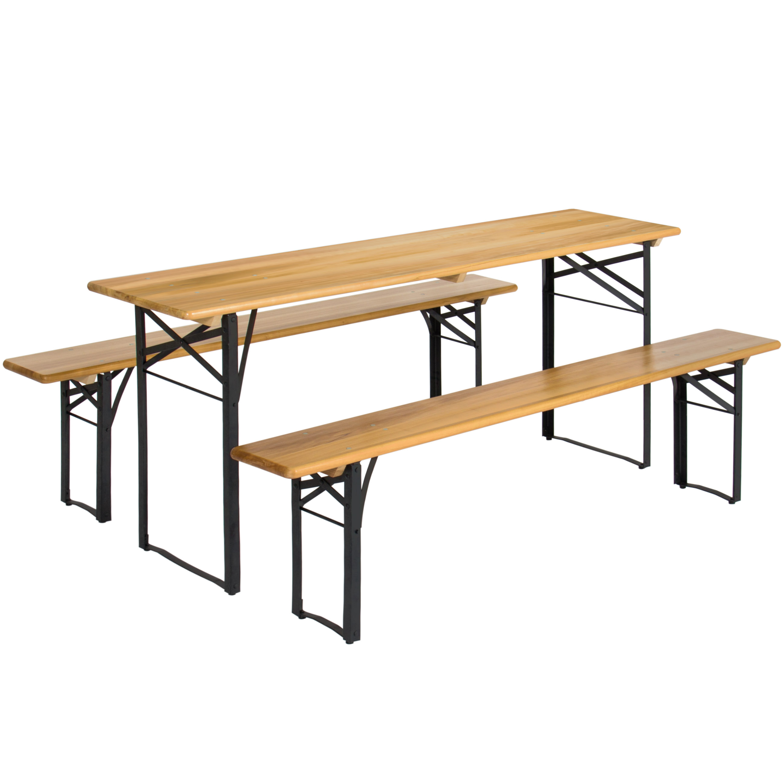 Best Choice Products Portable 3 Piece Folding Picnic Table Set W/ Wooden Tabletop  sc 1 st  Walmart.com & Best Choice Products Portable 3 Piece Folding Picnic Table Set W ...
