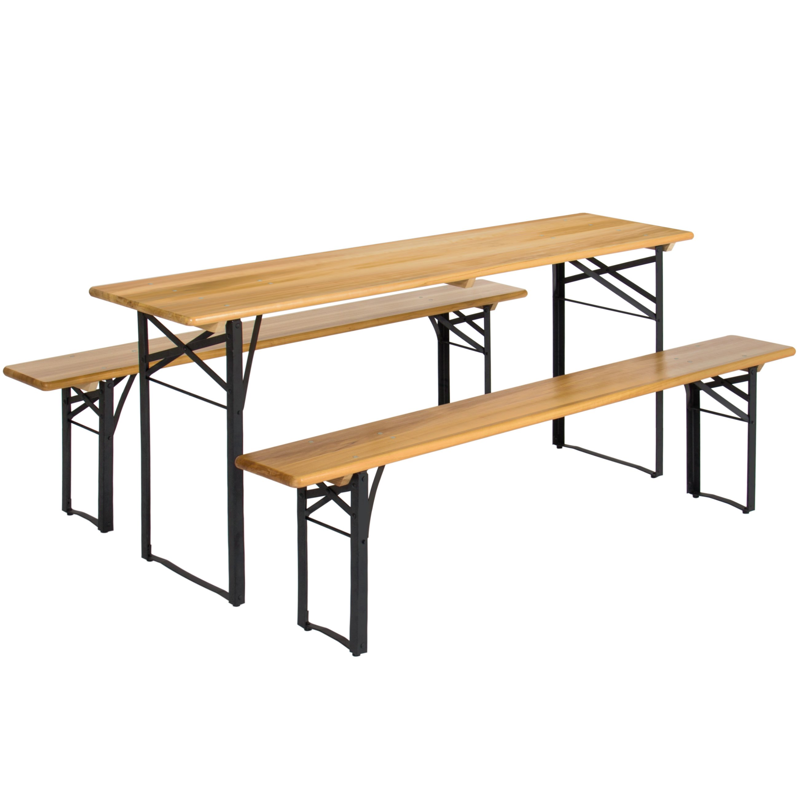 Best Choice Products Portable 3 Piece Folding Picnic Table Set W/ Wooden Tabletop  sc 1 st  Walmart & Best Choice Products Portable 3 Piece Folding Picnic Table Set W ...