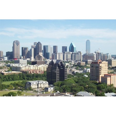 Laminated Poster Dallas Skyline Texas Stars Big D Fort Worth City Poster Print 24 x 36](Party City Fort Worth Texas)