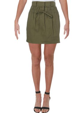 A.L.C. Womens Kent Ramie High-Waist A-Line Skirt