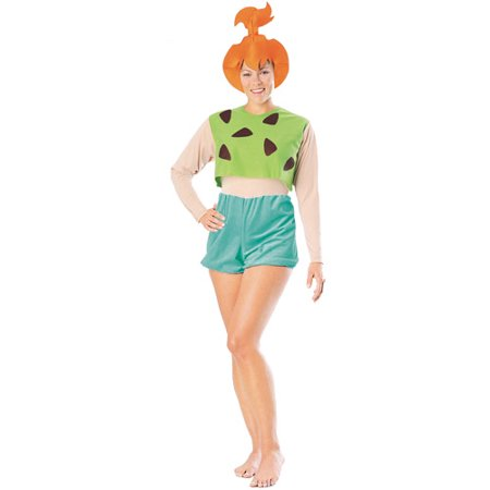 Flintstones Pebbles Adult Halloween Costume, Size: Women's - One - Flintstone Costumes For Adults