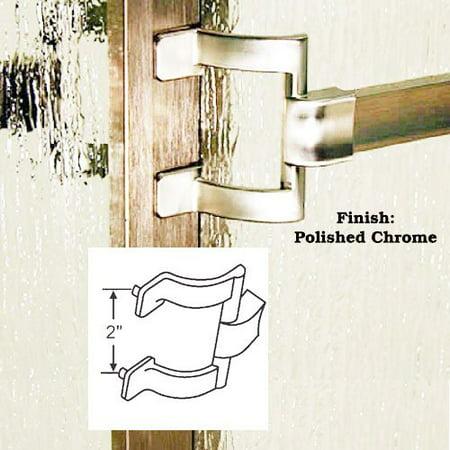 Chrome Framed Sliding Shower Door Towel Bar and Brackets - 30