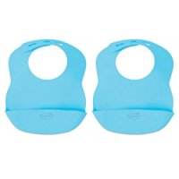 Kiddopotamus Bibbity Rinse & Roll Bib in Blue, 2 Count