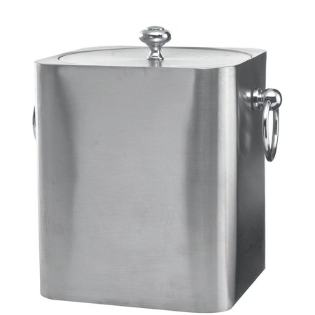 Service Ideas IBSQ3BS S/S 3 Liter Square Ice Bucket