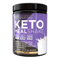 Keto Science Ketogenic Meal Shake Vanilla Dietary Supplement, Meal Replacement, Weight Loss, Intermittent Fasting, 20.7 oz. (587 g), 14 Servings
