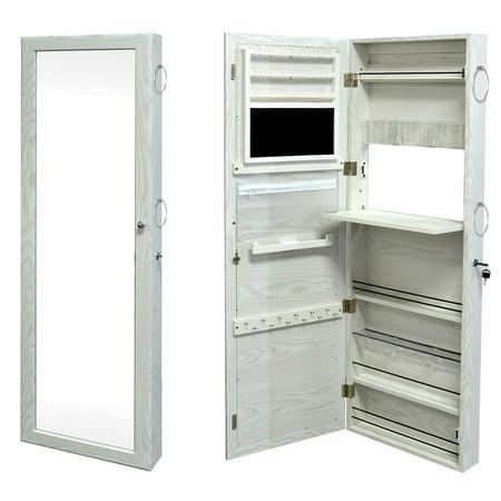 SortWise™ Jewelry Armoire Lockable Door Mounted Jewelry Cosmetic Mirror Storage Organizer - image 5 of 8