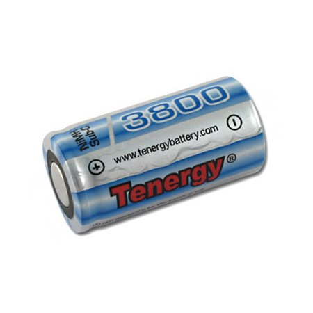 Tenergy Propel Sub C 3800mAh NiMH Flat Top Rechargeable Batteries (Special Size) FLAT TOP