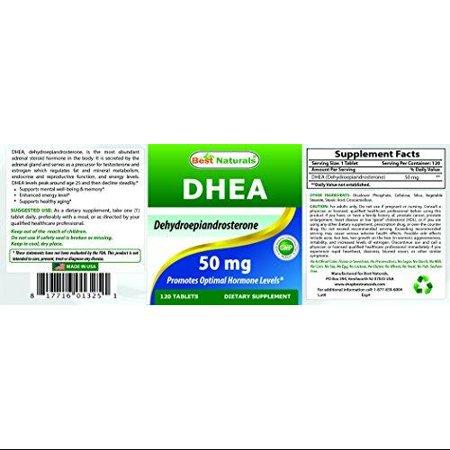 Best Naturals DHEA 50 mg 120 comprimés