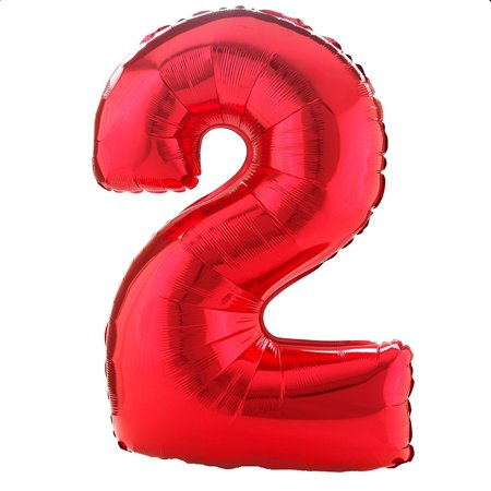28277 Number 2 Foil Mylar Balloon, 34