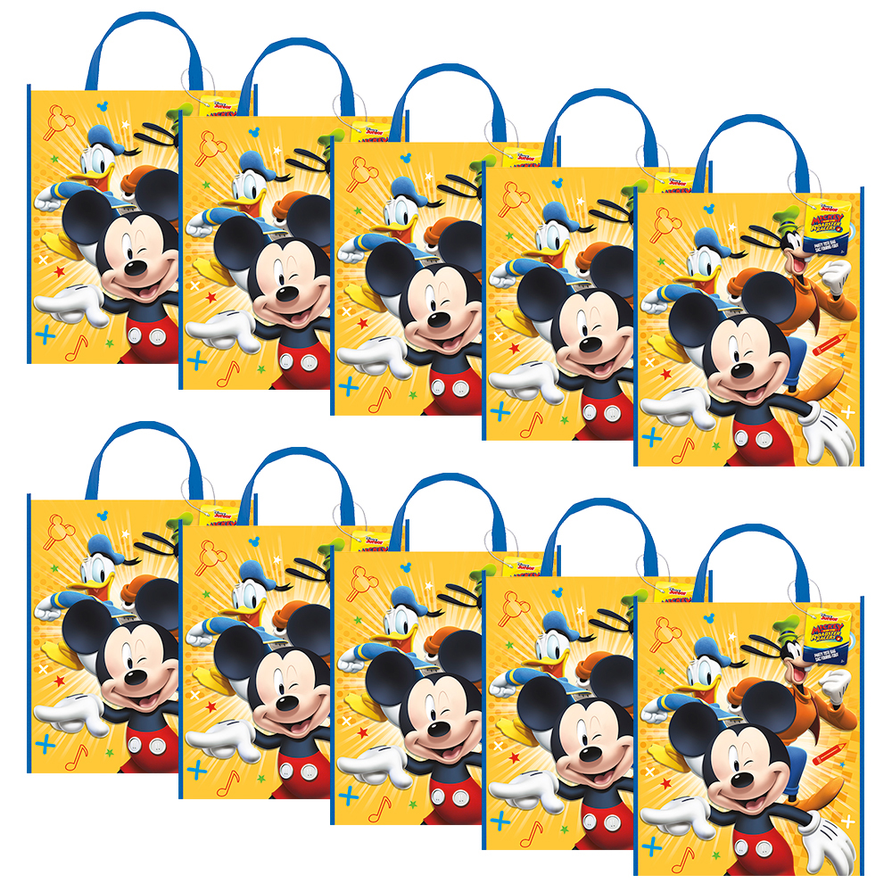 Mickey And Friends Party Tote Bag (Set Of 10) - Party Supplies