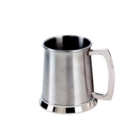 20 oz Satin Tankard Stainless Steel Cap - 4.5 in. - image 1 de 1