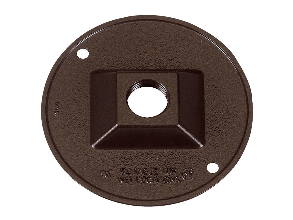 """SIGMA 49218 1//2/"""" METAL 1 HOLE COVER BRONZE BOX OF 9"""