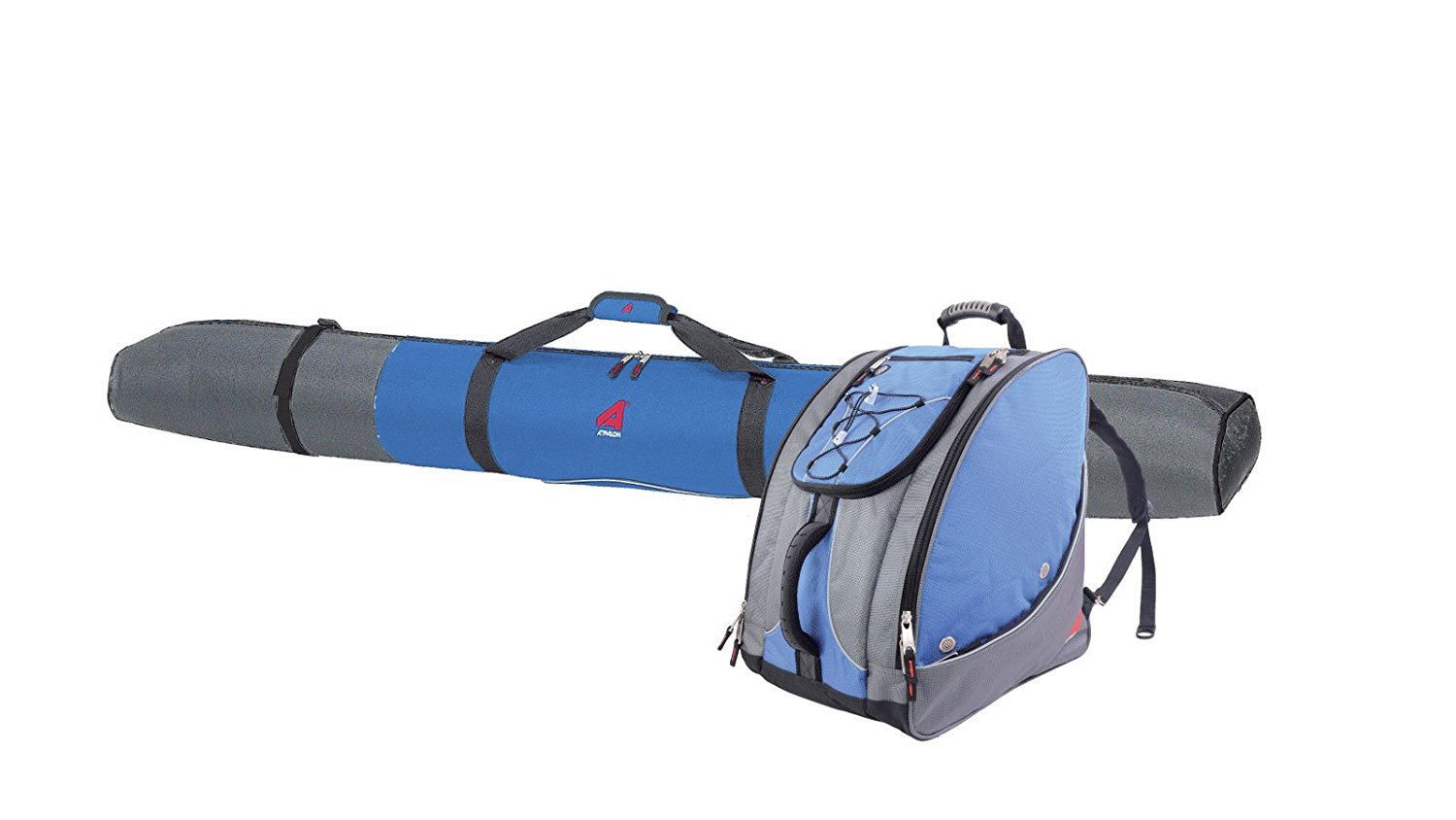 ATHALON PADDED SINGLE SKI BAG (180CM) W  EVERYTHING BOOT BAG #391 GLACIER BLUE by