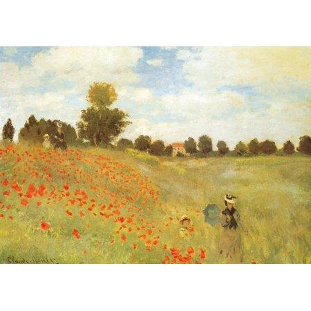 Poppy Field, Near Argenteuil, c.1873 Art Print  By Claude Monet Poppy Field Argenteuil