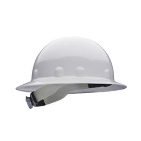 Fibre-Metal by Honeywell White E1 Thermoplastic Full Brim Hard Hat With 8 Point Ratchet - White Construction Helmet