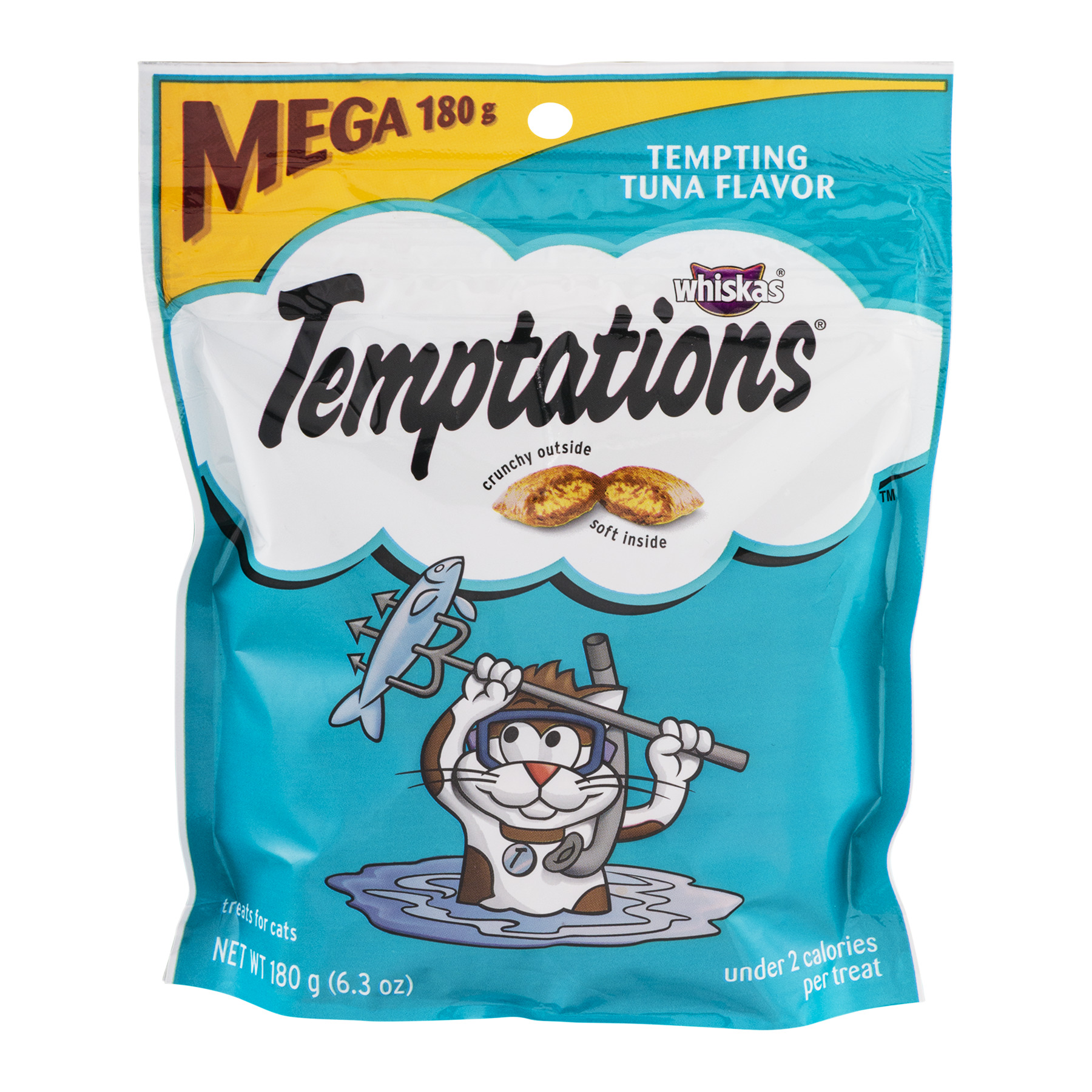 Temptations Classic Tempting Tuna Flavor Cat Treats, 6.3 Oz