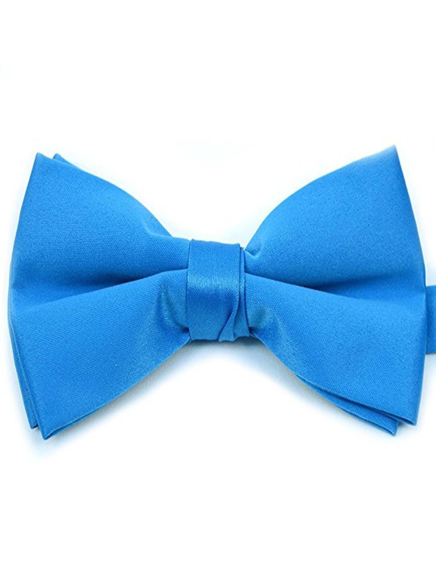 Mens Solid Color Banded Bow Ties