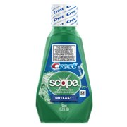 (4 pack) Crest Scope Outlast Mouthwash, Long Lasting Mint, 36 mL