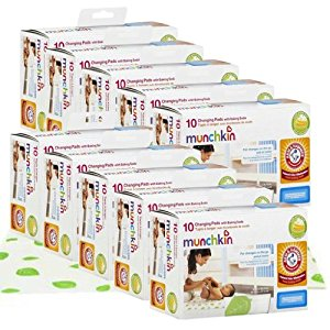 Munchkin Arm & Hammer Disposable Changing Pads, Value Pack of 100 by Munchkin