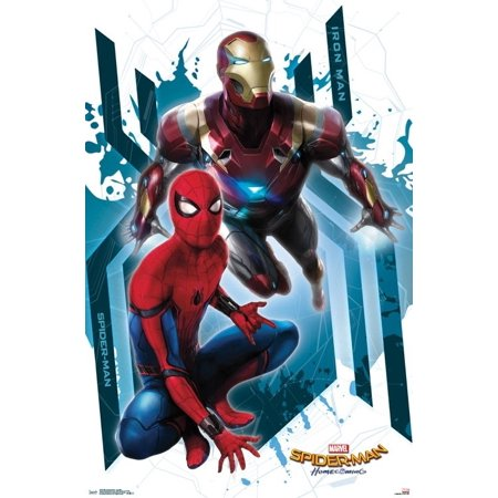 Spider-Man Homecoming - Iron Man Laminated Poster Print (22 x - Homecoming Queen Poster Ideas