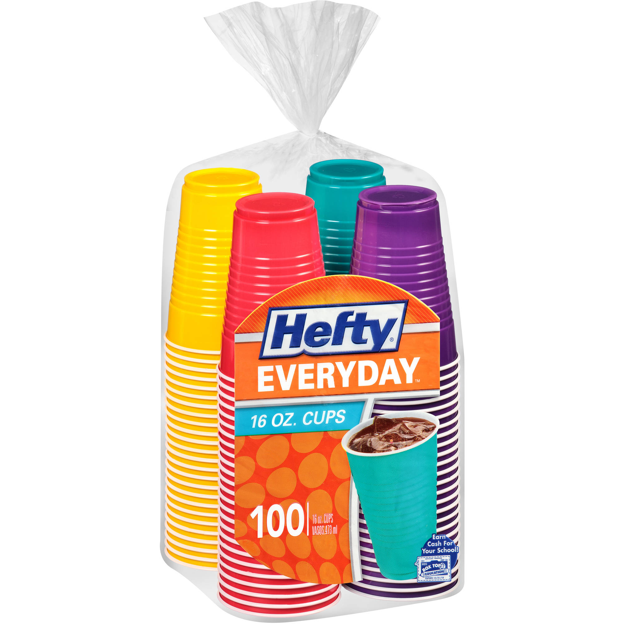 Hefty Party Cups, 16 oz, 100 count