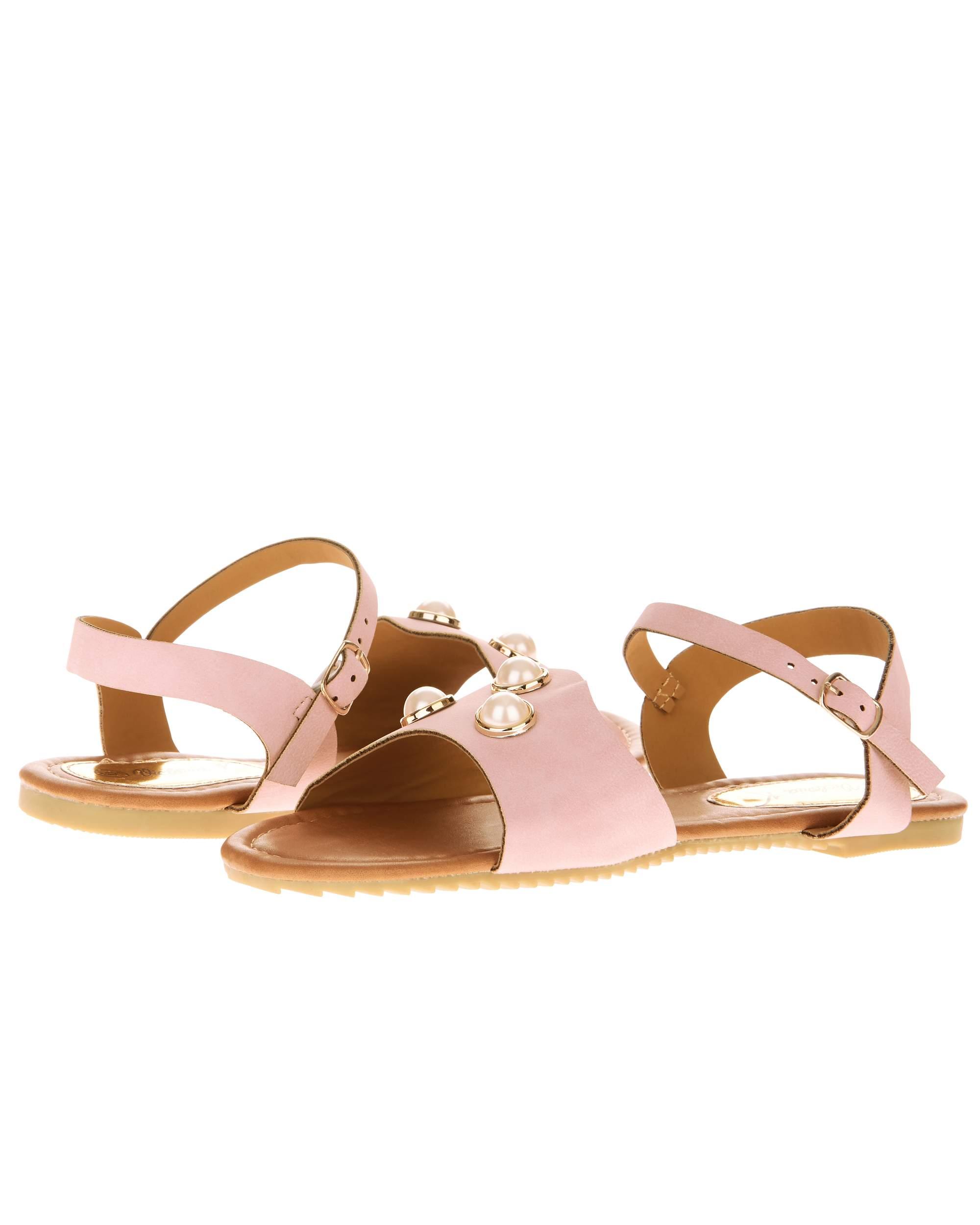 Victoria K Women's Three Pearls Sandals