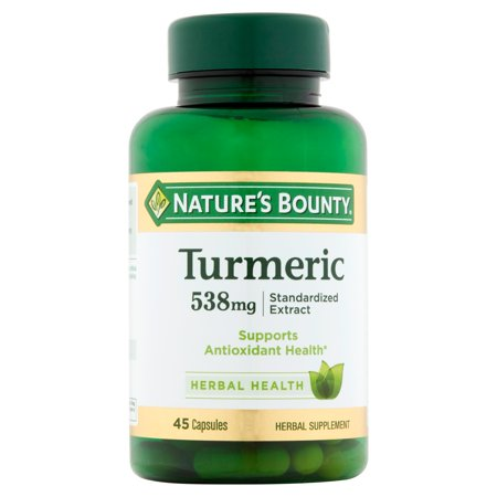 Natures Bounty Turmeric Herbal Supplement Capsules  500Mg  45 Count