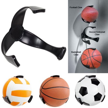 Topseller Space Saver Basketball Soccer Ball Claw Sports Wall Mount Holder for Ball Basketball Soccer