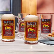Personalized Smokin' Hot BBQ Beer Glass, Set of 4