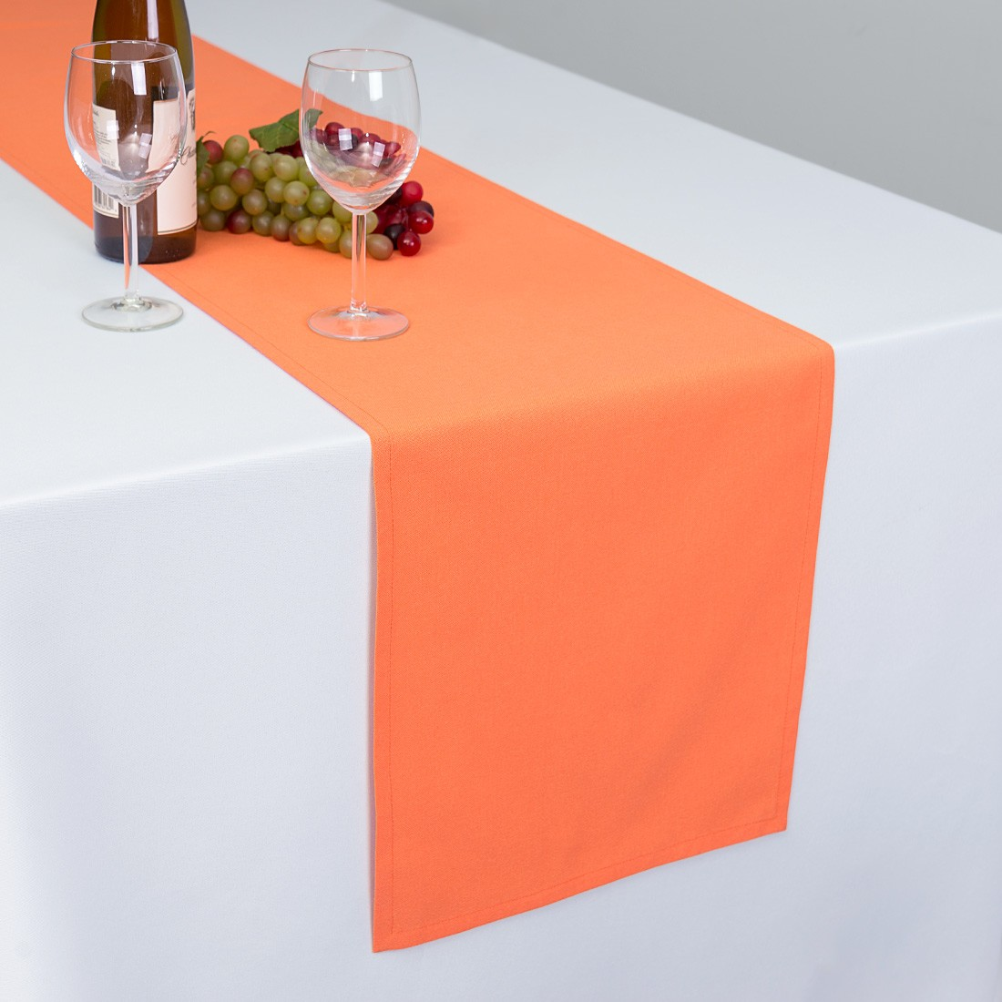 Linen Tablecloth Cotton Table Runner, Orange by Linen Tablecloth