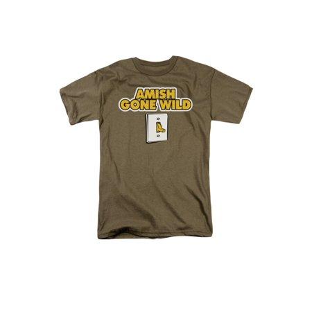 Amish Gone Wild Light Switch Funny Joke Adult T-Shirt ()