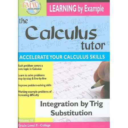 Integration By Trig Substitution - Walmart.com