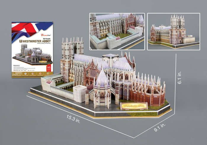 Westminster Abbey 3D Puzzle 145 Pieces Wtih Book by