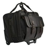 FranklinCovey Breckenridge Wheeled Laptop Case - Brown