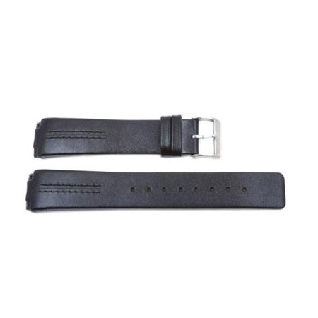 Black Carbon Fiber Watch Band - Skagen Replacement 433 Series Black 20mm Watch Strap