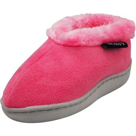 Hot Pink Fuzzy Slippers (Norty Toddler Girls Kids Fleece Memory Foam Slip On Indoor Slippers Shoe, 40856 Hot Pink /)